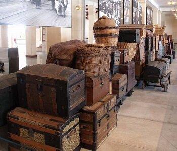 Les bagages du Musée de l'Immigration d'Ellis Island