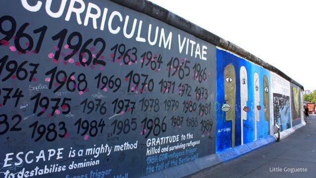Le Mur de Berlin, East side gallery
