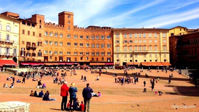 Sienne, piazza del Campo