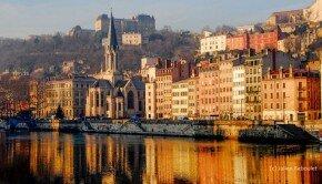 A Lyon, le quai de Saône