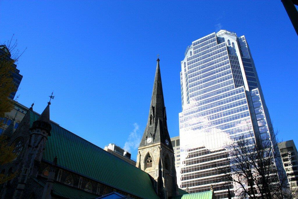 Les contrastes du centre-ville