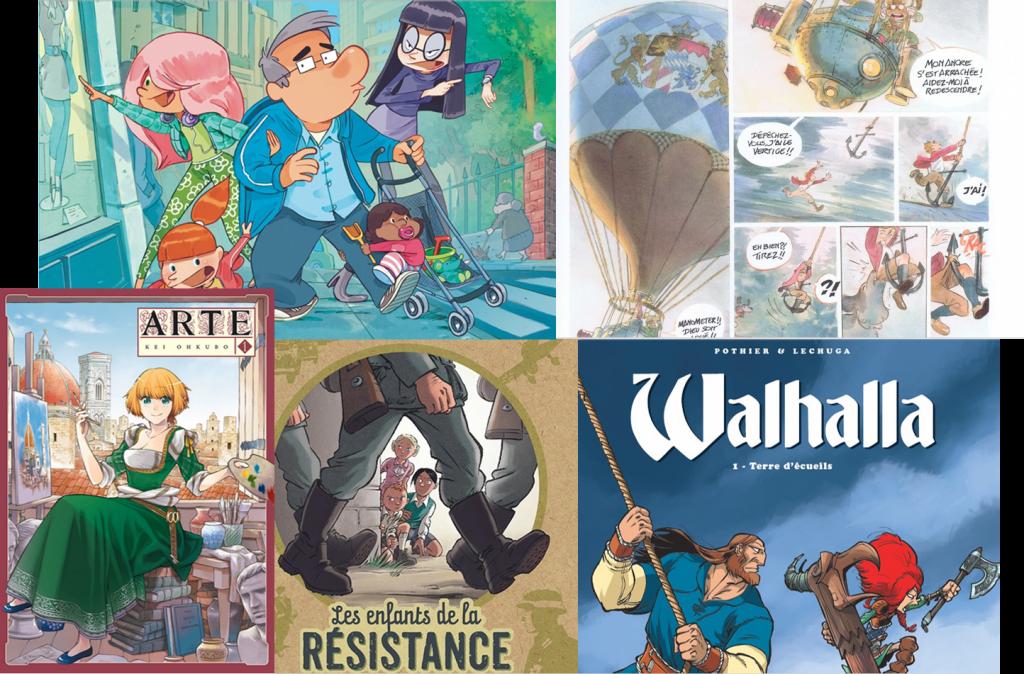 Sélection Little Goguette de BD et mangas pour kids et ados