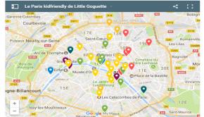 La carte Little Goguette de Paris kidfriendly