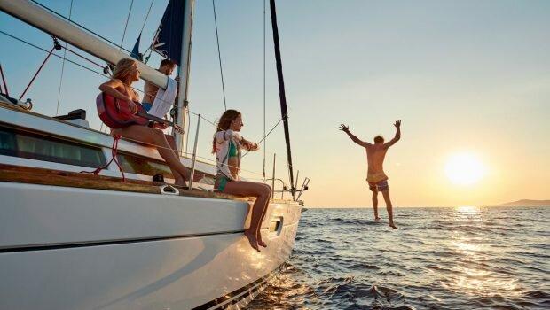 Vacances en bateau et en famille